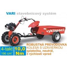 Malotraktor 4-takt a vozík vyklápací MTVO, motor VARI XP200 + prevodovka DSK 317, spojka 80mm / VARI systém