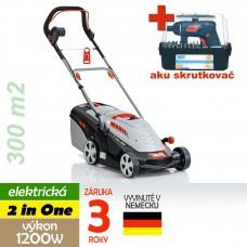 Kosačka elektrická COMFORT 34 E, 2 in ONE, 1200W