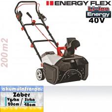 Aku fréza snehová ST 4048 / ENERGY FLEX (36V resp. 40V, bez akumulátorov, nabíjačky)