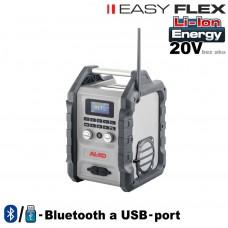 Aku lampa rádio WR 2000 / EASY FLEX (20V, bez akumulátorov, nabíjačky)