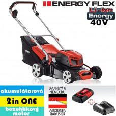 Aku kosačka 42.9 Li, 2 in ONE, bez pohonu / ENERGY FLEX (40V, 1 akumulátor 4Ah + nabíjačka) - DOPREDAJ ZÁSOB 2019