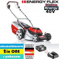 Aku kosačka Moweo 46.5 Li SP, 3 in ONE, s pohonom / ENERGY FLEX (40V, 2 akumulátory 4Ah + nabíjačka)