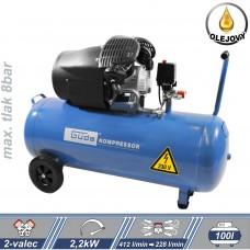 Kompresor olejový 412/8/100