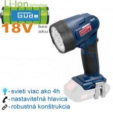 Aku lampa LED L 18-0 (18V/ bez akumulátorov a nabíjačky, krabica)