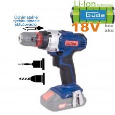 Aku skrutkovač BS 18-0 II (18V/ bez akumulátorov a nabíjačky, krabica)