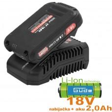 Nabíjačka LG 18-30 + 1x akumulátor 2,0Ah