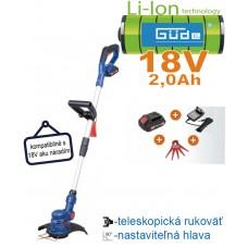 Aku vyžínač RT 18-201-05 (18V/ 1x akumulátor 2,0Ah + nabíjačka, krabica)