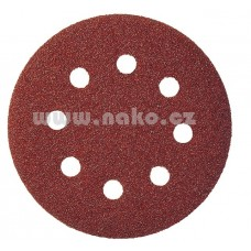 Výsek kruhový Suchý Zips 125 mm, K100 / PS 22 K GLS5/8 dier (drevo, kovy univerzálne, nerez, farba, lak, tmel, plasty)
