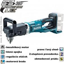 Aku uhlová vŕtačka DDA460Z (2x 18V, bez akumulátorov, nabíjačky a prepravného kufra)