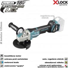 Aku brúska uhlová DGA519Z X-LOCK (18V, bez akumulátorov, nabíjačky a prepravného kufra)