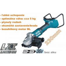 Aku brúska uhlová DGA900Z (2x 18V, bez akumulátorov, bez nabíjačky a bez prepravného kufra)