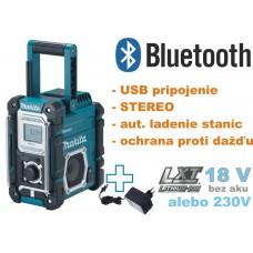Aku rádio DMR108 s BLUETOOTH pripojením a USB portom (bez akumulátorov, nabíjačky a prepravného kufra, sieťový adaptér)
