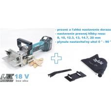 Aku fréza lamelovacia DPJ180Z (18V, bez akumulátorov, nabíjačky a prepravného kufra)