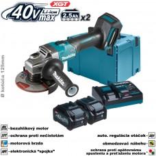 Aku brúska uhlová GA005GD201 (XGT 40V, 2x akumulátor 2,5Ah, nabíjačka, v kufri)
