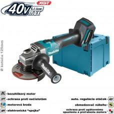 Aku brúska uhlová GA005GZ01 (XGT 40V, bez akumulátorov a nabíjačky, v kufri)