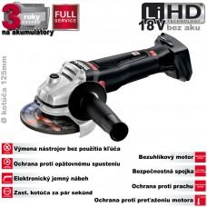 Aku brúska uhlová WB 18 LTX BL 125 Quick BLACK, 18V LiHD /bez akumulátorov, nabíjačky a prepravného kufra/