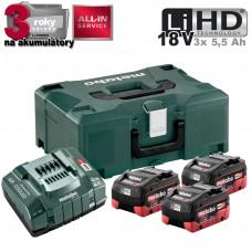 Aku Basic-Set 3x LiHD 5,5 Ah + ML /3x aku + nabíjačka 30 min., kufor/