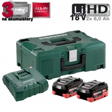 Aku Basic-Set 2x LiHD 8,0 Ah + ASC Ultra ML /2x aku + nabíjačka 15 min., kufor/