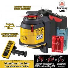 Laser multilíniový (360°), samonivelačný LAX 400 (červený) + prijímač REC 220 / do 40m