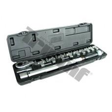 "Momentový kľúč 1/2"" 40-210 Nm+sada vidlic.adap.,13-14-15-17-19-22-24-27-30mm,aret. na konci"