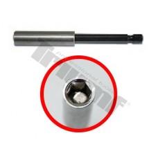 "Nadstavec magnetický na bity s poistným krúžkom 1/4"" - L - 75 mm"