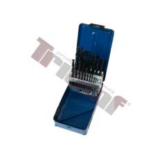 Sada vrtákov HSS valcovaných , čierne - 1 - 13 mm, 25 - dielna