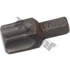 bit torx nevŕtaný T70H-30L-8mm driek, materiál S2, vhodné do sád 150,171,176 dielnych