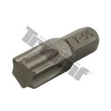 bit torx T 55 nevŕtaný, driek 8mm, materiál S2, vhodné do sád 150,171,176 dielnych