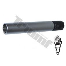"""Hlavica momentová 14 mm predĺžená na zapaľovacie sviečky, 3/8"""" vstup , 125mm dlhá"""