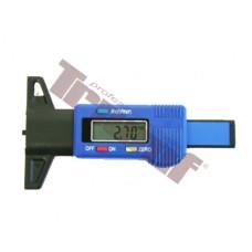 Digitálny merač hĺbky dezénu pneumatík, rozsah 0 - 28 mm