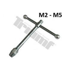 Extra pevný držiak na závitníky - M2 - M5, L = 200 mm