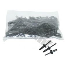 10 ks plastovích nitov 5,0 x 15,8 mm, kotviaci rozsah Ø3 - 4,5