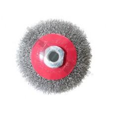 Kotúč drôtený miskový 115 mm, M14x2, vlnitý drôt 0,3 mm