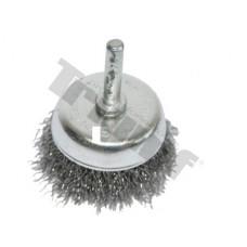 Kotúč drôtený hrncový, tŕň 6 mm, vlnitý drôt - Ø 50 mm
