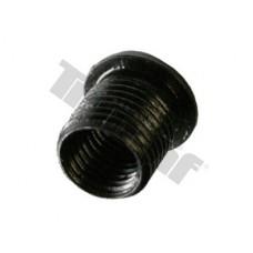 Závitová vložka, 1 ks, čierna oceľová - M10 x 1 x 12,0 mm