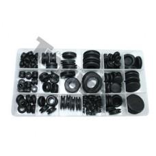 125-dielna sada gumených prechodových  krúžkov