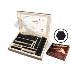 Drevená prezentačná kazeta extra dlhých inbusov, 240 ks