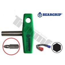 Držiak bitov magnetický  T rukovät 45 mm
