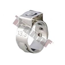 10 ks nerezová spona zatláčacia , rozsah použitia  Ø 12,8 - 15,3mm