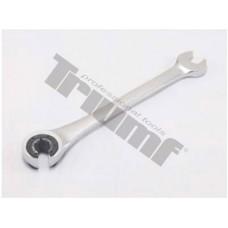 Kľúč očkovidlicový račňový s prerezaným očkom na brzdové potrubia - 17 mm