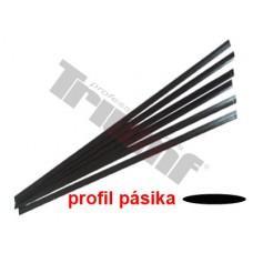 Pásik polyetylénový  čierny, 1.8 m