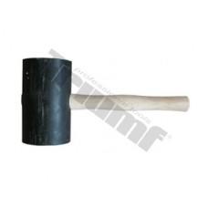 Kladivo gumené čierne, súdkovitý tvar OE100x170 mm, 2000g, maxi, drevená rukoväť - Ø100x170 mm