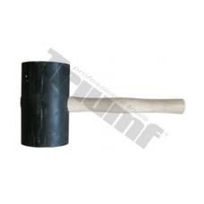 Kladivo gumené čierne, súdkovitý tvar OE100x170 mm, 2000g, maxi, drevená rukoväť - Ø120x200mm