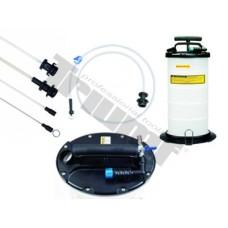 Odsávačka a napĺňačka tekutín s reguláciou tlaku s adaptérmi, objem 9,5l