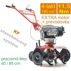 Rotavátor benzínový 4-takt, KF Extra 850, spojka 100mm, záber 85cm, B&S 850 - 11,5Nm / KF systém